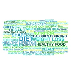 Diet and weight loss vector image