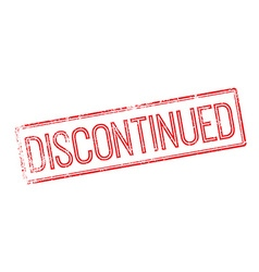 Discontinued red rubber stamp on white vector image