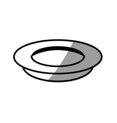 Dish cooking picnic shadow vector