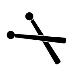 drumsticks icon black sign vector image