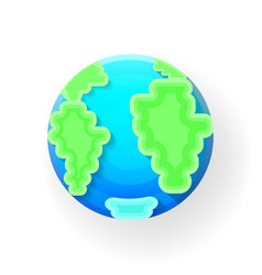 earth globe a blue planet with vector image