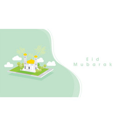 Eid mubarak card template design vector