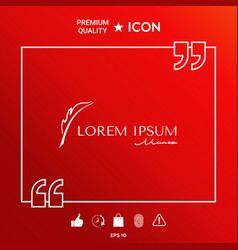 elegant logo with fountain pen vector image