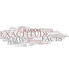 Exactitude word cloud concept vector