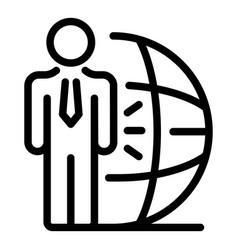 Financial advisor icon outline style vector