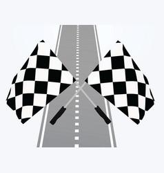 finish line vector image