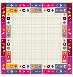 flowers decorative border frame vector image
