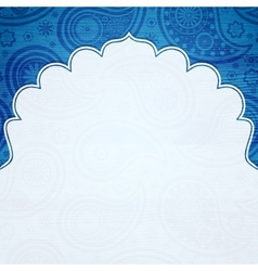 Frame in the Indian style vector image