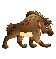 funny hyena cartoon vector image