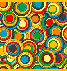 geometrical seamless pattern with colorful circles vector image