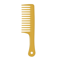 gold hair comb isolated on white vector image