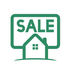 green home sale logo vector image
