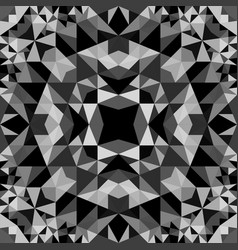 Grey abstract seamless triangle mosaic vector