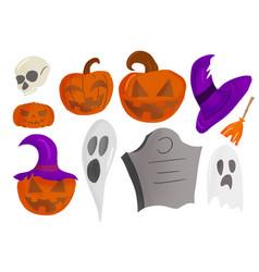 Halloween stuff isolated vector
