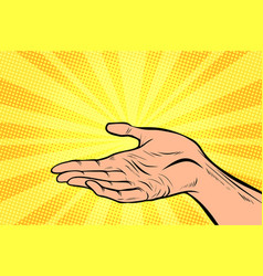 holding in hand presentation gesture vector image