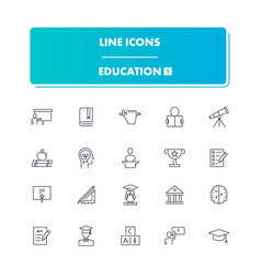 line icons set education 1 vector image