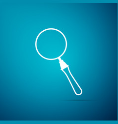magnifying glass icon isolated on blue background vector image