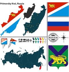 Map of Krai of Primorsky vector