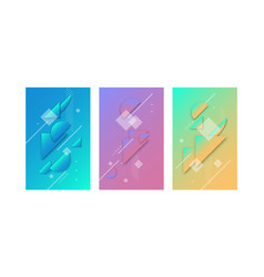 modern collage simple geometric shapes vector image