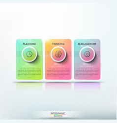 modern infographic design template 3 separate vector image