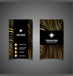 modern striped business card vector image