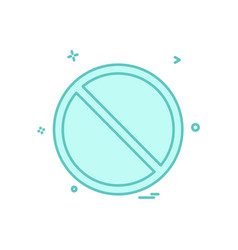 not allowed icon design vector image