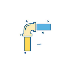 pipe labor labour water icon vector image