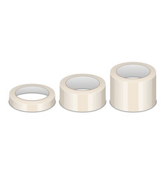 Realistic 3d glossytape roll different size vector