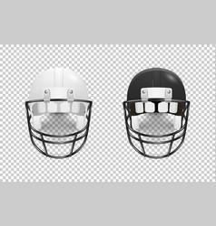Realistic classic american football helmet set vector