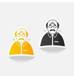 realistic design element senior citizens vector image