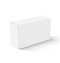 realistic white blank cardboard take away box vector image