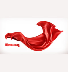 Red cloak 3d realistic vector