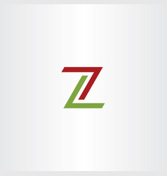 red green z logo icon sign vector image
