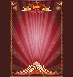 Red show circus poster vector