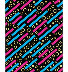 Retro 80s memphis pattern background vector