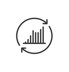 Return investment icon symbol currency vector