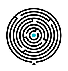 round labyrinth find path vector image