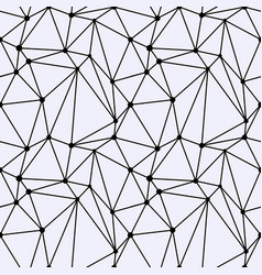 seamless polygonal space pattern with connecting vector image