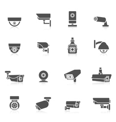 Security Camera Icons vector image