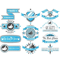 SET OF VINTAGE LABEL COLLECTION BICOLOUR 2 vector image