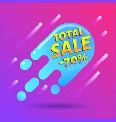 seventy percent off sale discount banner special vector image