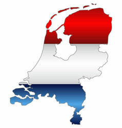 Shiny map of the netherlands vector