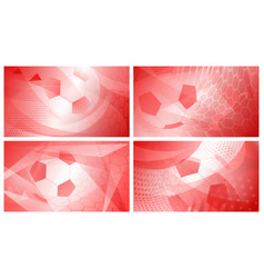 soccer backgrounds in red colors vector image