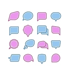 Speech bubbles conversation chat text dialogue vector image