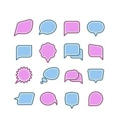 Speech bubbles conversation chat text dialogue vector