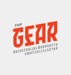 Speed style font design alphabet letters vector