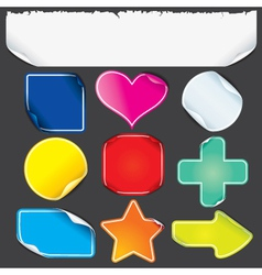 sticker shapes vector image