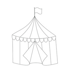 striped circus tent doodle style vector image