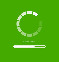 system software update or upgrade application vector image