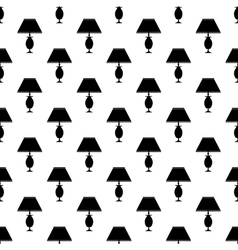 Table lamp pattern seamless vector image
